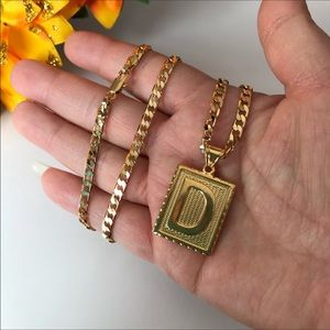 "Other - New 18k gold letter "" D "" necklace"
